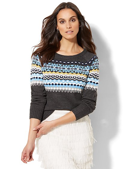 Fair Isle Sweater - New York & Company