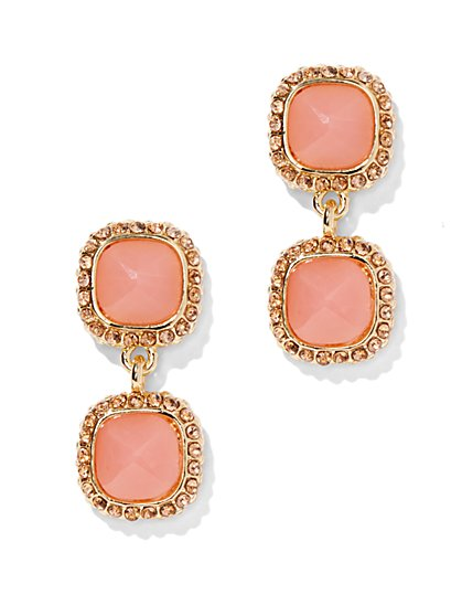 Faux Coral Drop Earring  - New York & Company