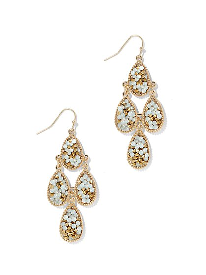 Faux-Druzy Chandelier Earring  - New York & Company