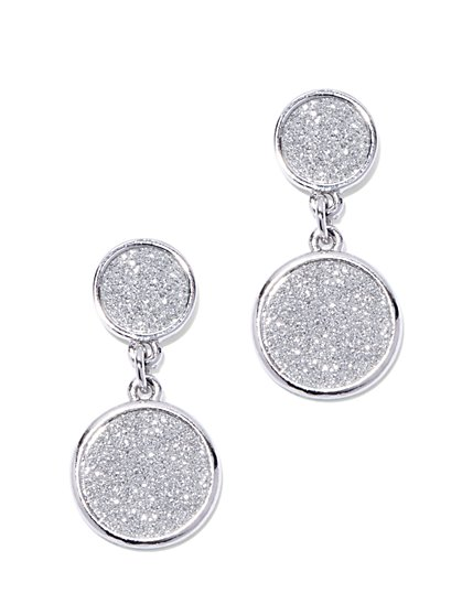 Faux-Druzy Circular Drop Earring  - New York & Company