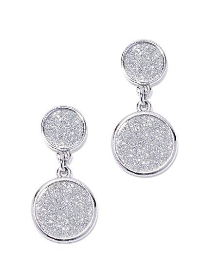 Faux-Druzy Circular Drop Earring  - New York & Company