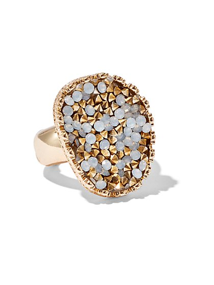 Faux-Druzy Cocktail Ring  - New York & Company