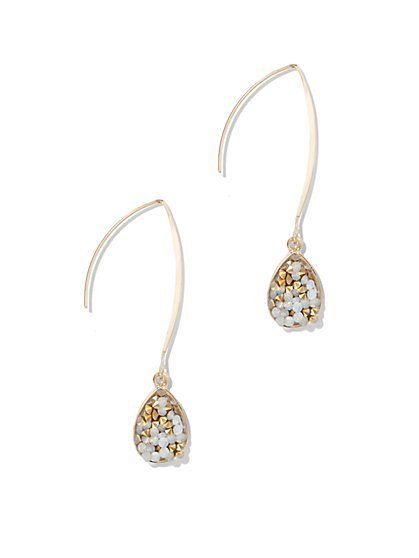 Faux-Druzy Drop Earring  - New York & Company
