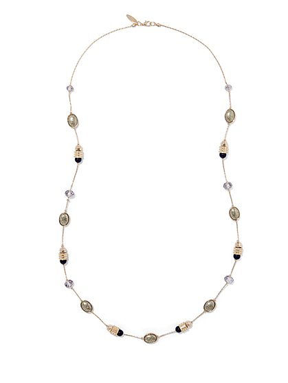 Faux-Druzy Goldtone Necklace  - New York & Company