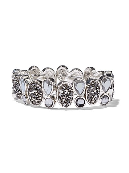 Faux-Druzy Stretch Bracelet  - New York & Company