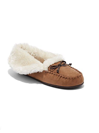 Faux Fur-Lined Slipper  - New York & Company