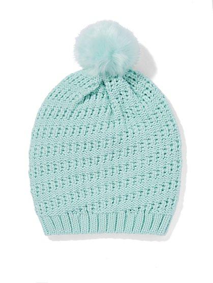 Faux-Fur Pom-Pom Hat  - New York & Company