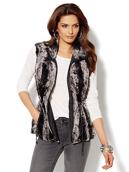 Faux-Fur Reversible Vest - New York & Company