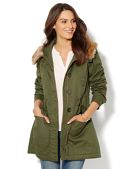 Faux-Fur Trim Parka - New York & Company