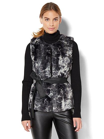 Faux-Fur Vest - New York & Company