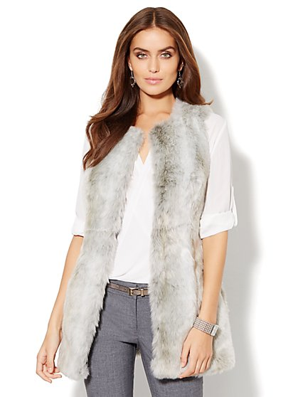 Faux-Fur Vest - New York & Company