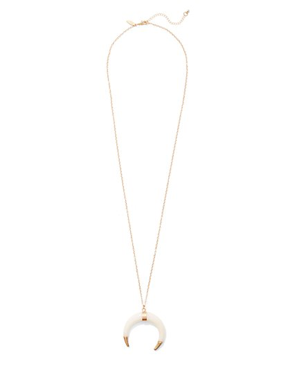 Faux-Horn Pendant Necklace  - New York & Company