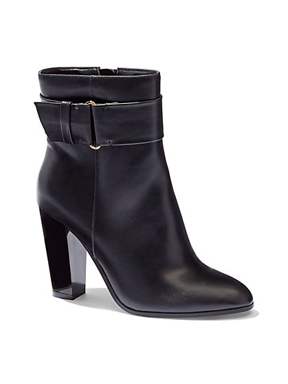 Faux-Leather Ankle Boot  - New York & Company