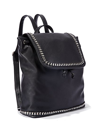 Faux-Leather Backpack - New York & Company
