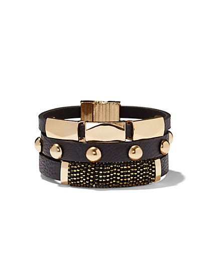 Faux-Leather Bracelet  - New York & Company