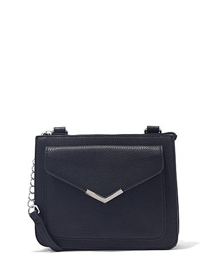Faux-Leather Crossbody Bag  - New York & Company