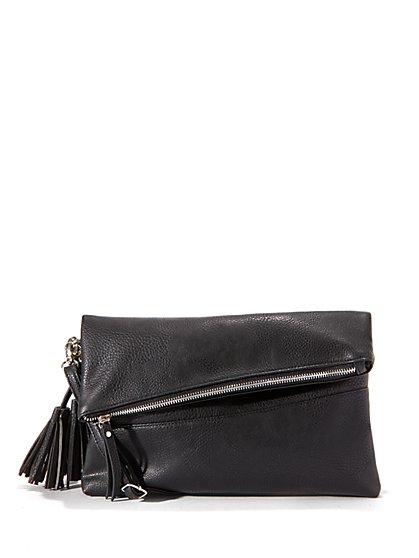 Faux-Leather Crossbody Bag