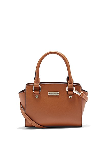 Faux-Leather Crossbody Mini Bag  - New York & Company