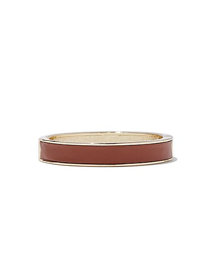 Faux-Leather Cuff Bracelet  - New York & Company