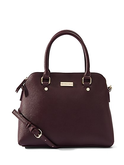 Faux-Leather Dome Bag  - New York & Company