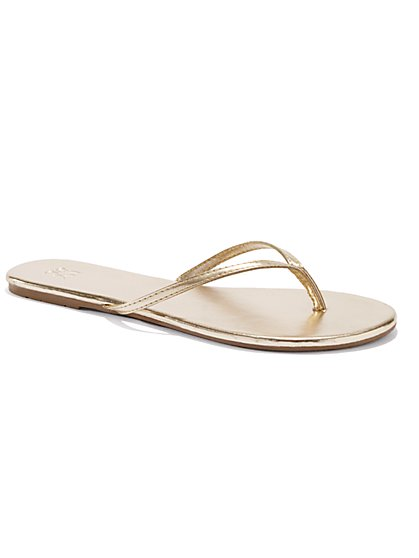 Faux-Leather Flip Flop