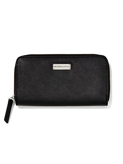 Faux-Leather Logo Wallet  - New York & Company