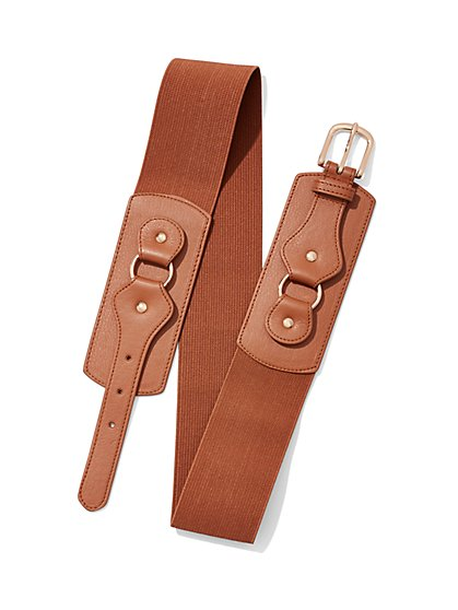 Faux Leather/Stretch Belt  - New York & Company