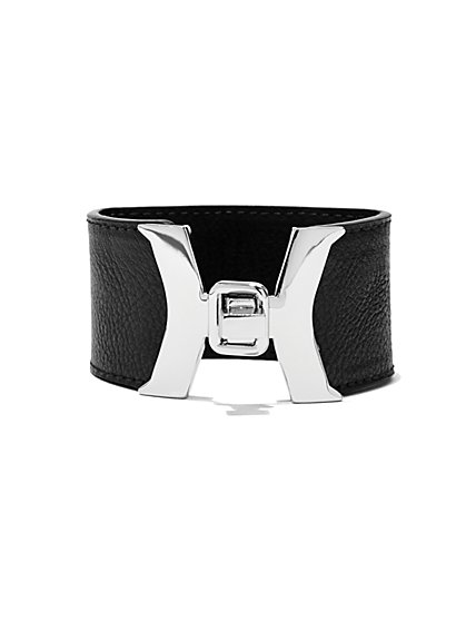 Faux-Leather Turnlock Cuff Bracelet  - New York & Company