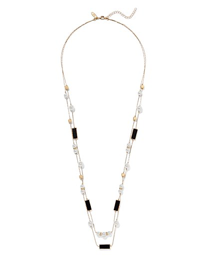Faux-Pearl 2-Row Necklace  - New York & Company