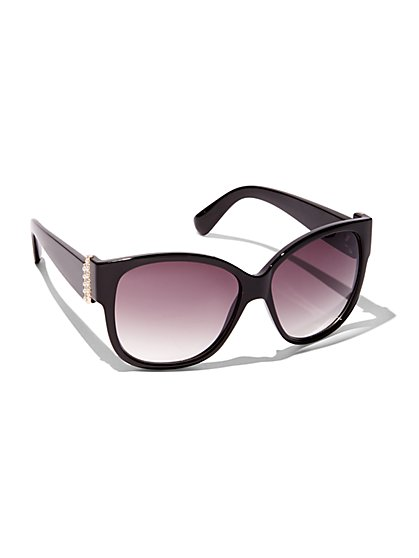 Faux-Pearl Accent Sunglasses  - New York & Company