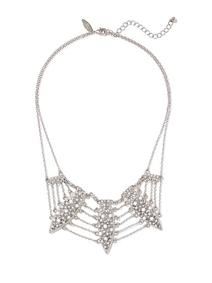 Faux-Pearl Bib Necklace  - New York & Company