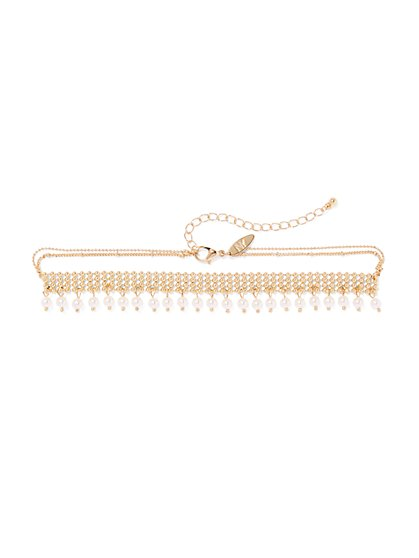 Faux-Pearl Choker Necklace  - New York & Company