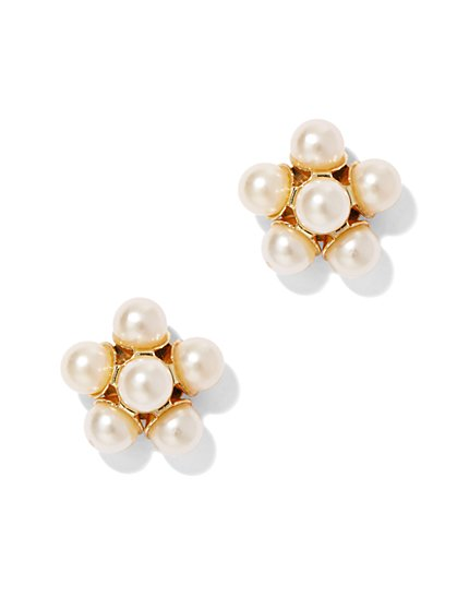 Faux Pearl Clusters Earring - New York & Company