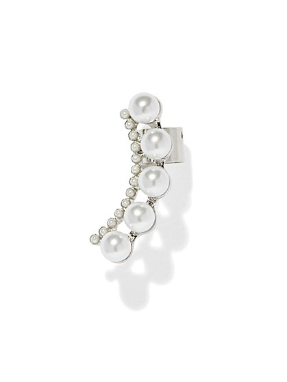 Faux-Pearl Cuff Earring  - New York & Company