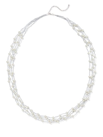 Faux-Pearl Necklace  - New York & Company