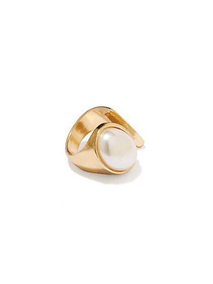 Faux-Pearl Sized Ring  - New York & Company