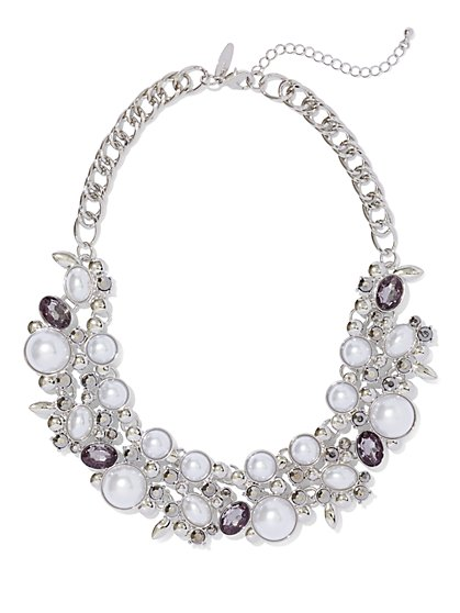 Faux-Pearl Statement Necklace  - New York & Company
