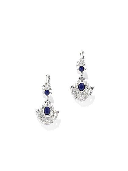 Faux-Sapphire Chandelier Earring  - New York & Company