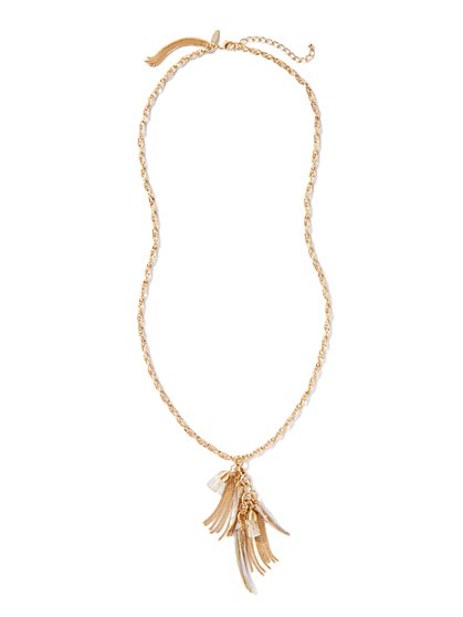 Faux Shark-Tooth Pendants Necklace - New York & Company