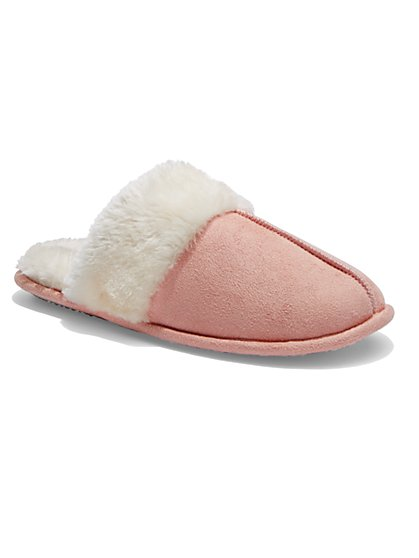 Faux-Shearling Slipper - New York & Company