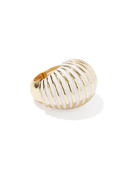 Faux-Shell Stretch Ring
