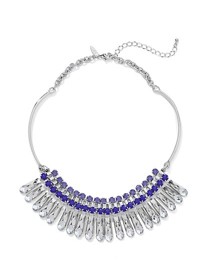Faux-Stone Bib Collar Necklace  - New York & Company