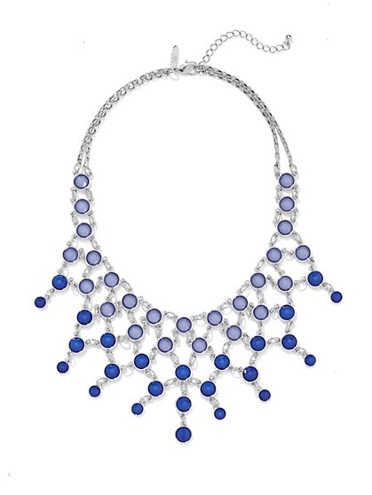 Faux-Stone Bib Necklace  - New York & Company