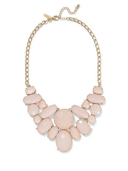 Faux-Stone Bib Statement Necklace  - New York & Company
