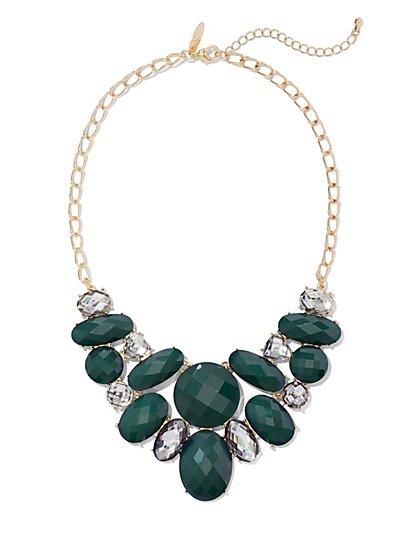 Faux-Stone Bib Statement Necklace  - New York & Company