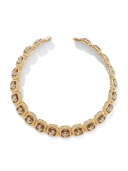 Faux-Stone Collar Necklace  - New York & Company
