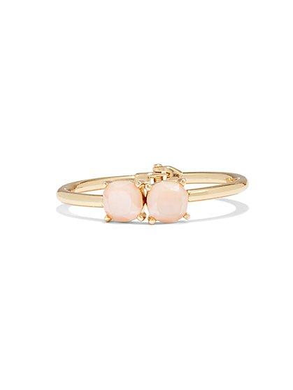 Faux-Stone Cuff Bracelet  - New York & Company
