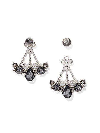Faux-Stone Drop/Post Earring  - New York & Company