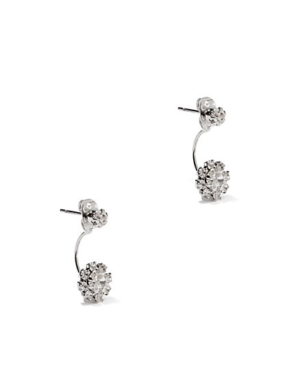 Faux Stone Floral  Drop Earrings  - New York & Company