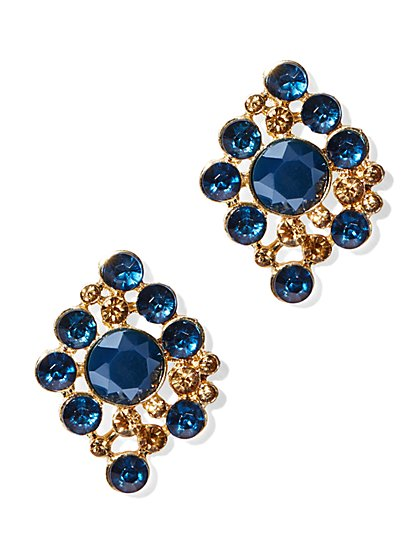 Faux-Stone Kite Earring  - New York & Company